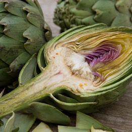 Pic of Artichokes with pine nut salsa