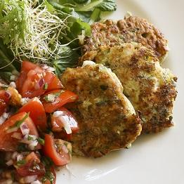 Pic of Courgette and feta fritters