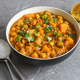 Pic of Squash and chickpea curry
