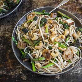 Broccoli, shiitake and hoisin stir-fry