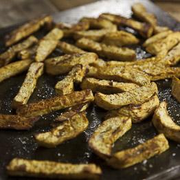 Pic of Indian spiced celeriac chips