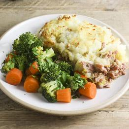 Pic of Speedy ham hock pie with potato, leeks, thyme and wilted greens
