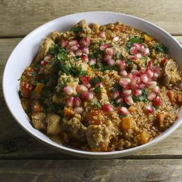 Moroccan chicken with mint, chilli and pomegranate