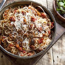 Pic of Mushroom and lentil bolognese