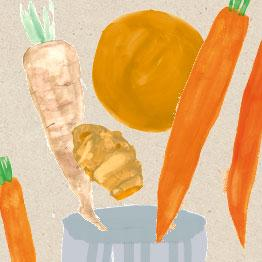 Parsnip, carrot, orange and turmeric