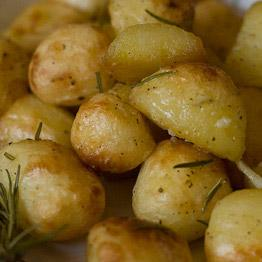 Pic of Garlic roasted potatoes