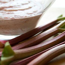 Pic of Rhubarb and cardamom fool