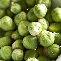 Pic of Brussels sprouts with pine nuts and balsamic vinegar