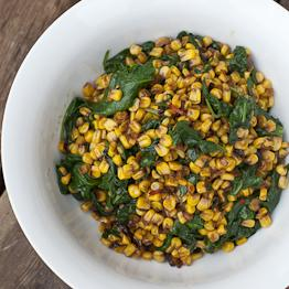 Pic of Braised sweetcorn with chard