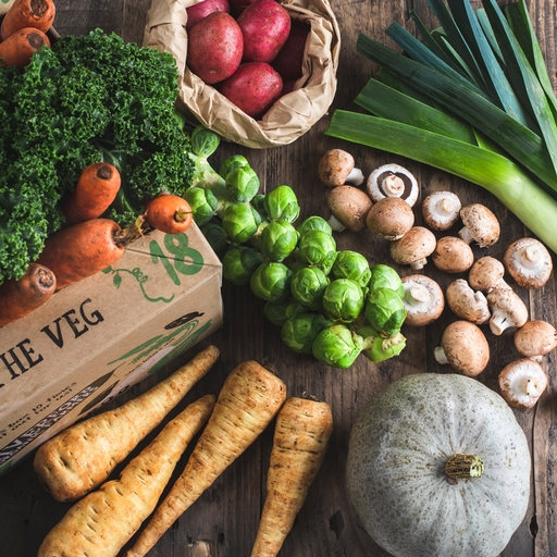 100% UK organic veg box