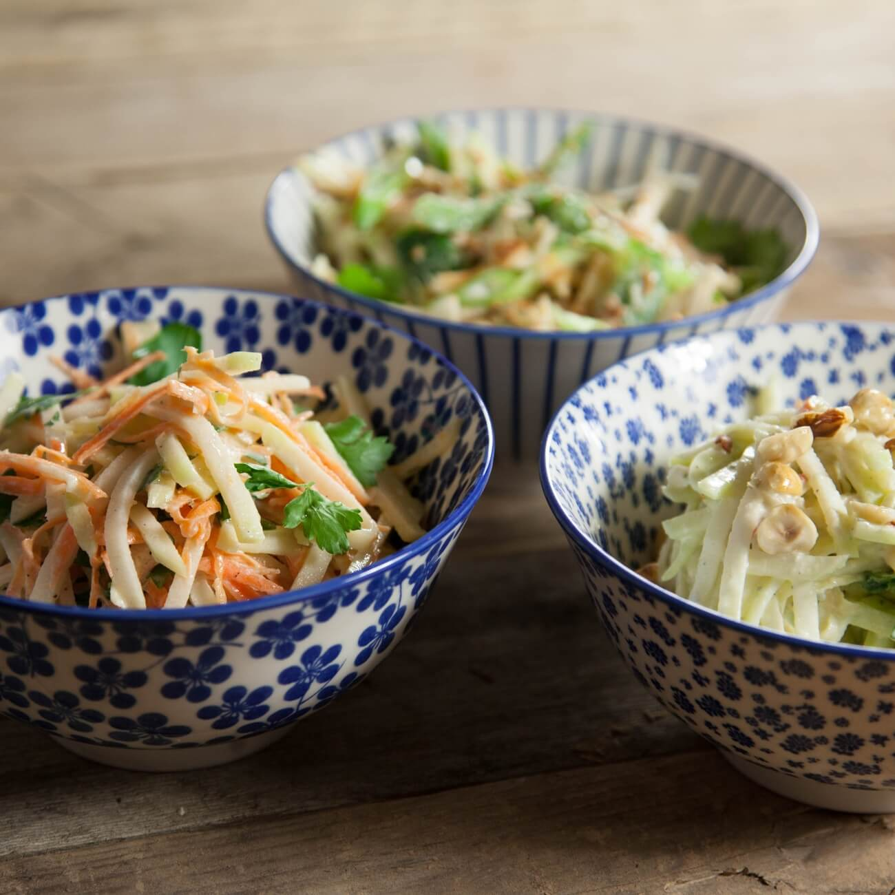Kohlrabi And Summer Carrot Slaw With Yoghurt And Fresh Her Riverford
