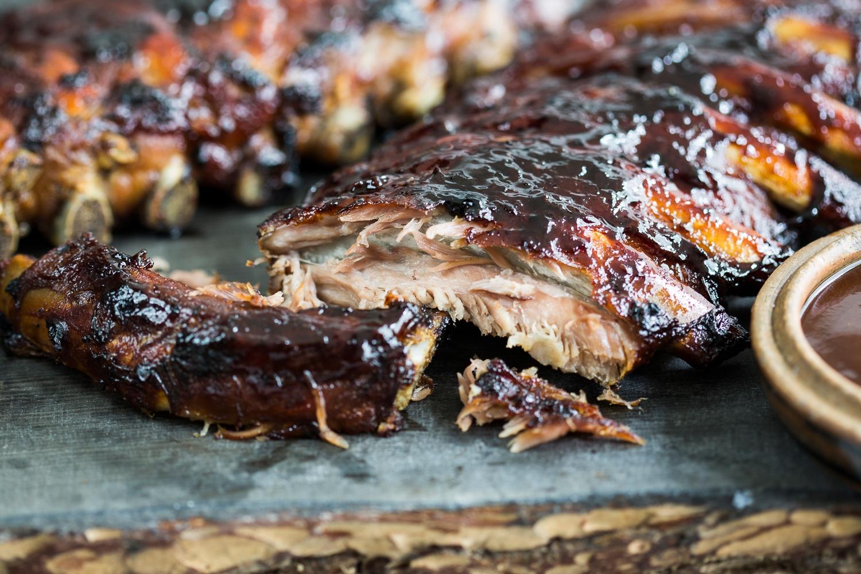 Rack of pork loin ribs