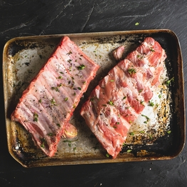 Rack of pork loin ribs 750g