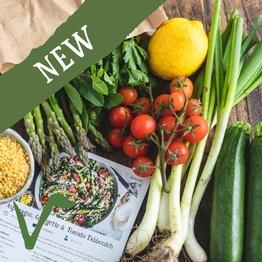 Asparagus tabbouleh salad bag