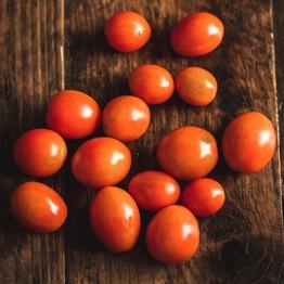 Red baby plum tomatoes