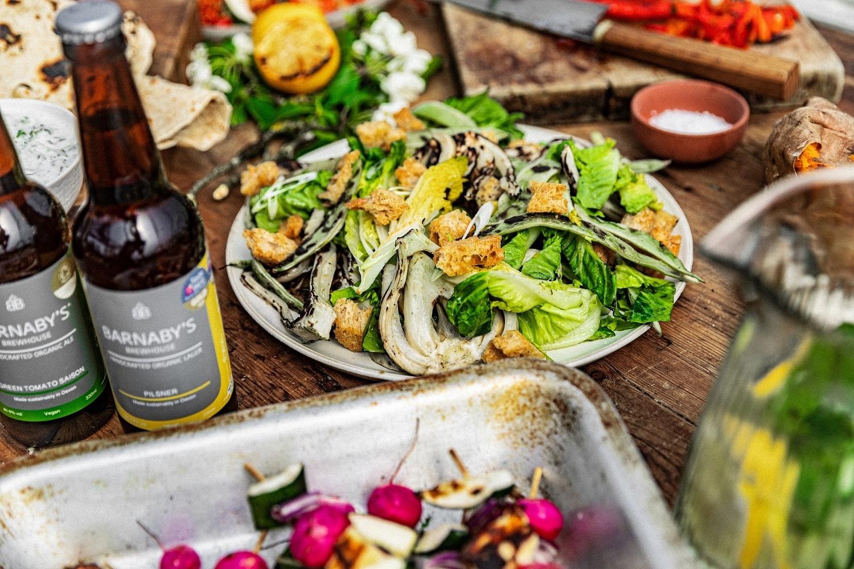 BBQ veg & salad