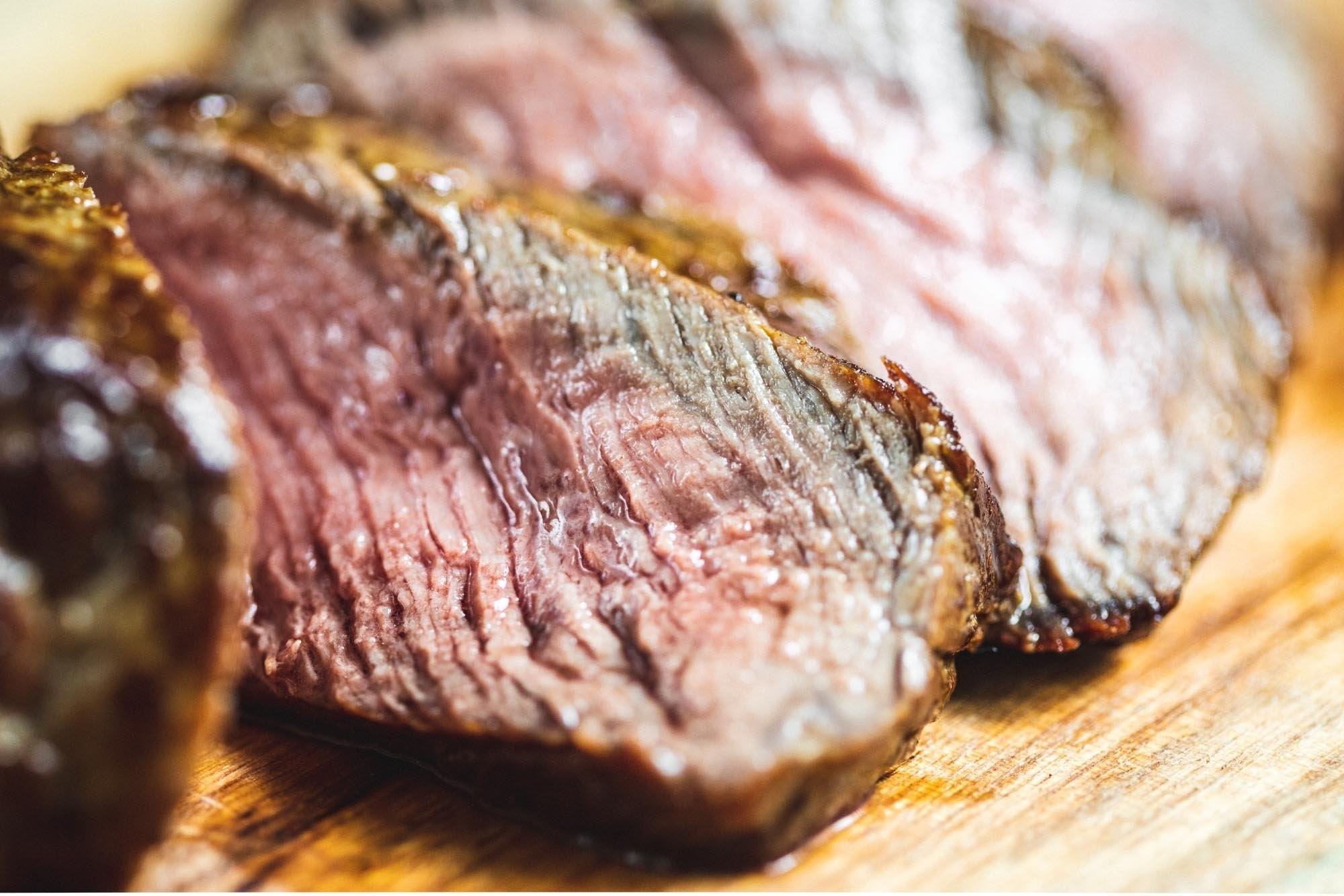Beef sharing sirloin steak