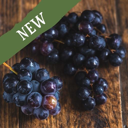 Seedless black grapes 350g