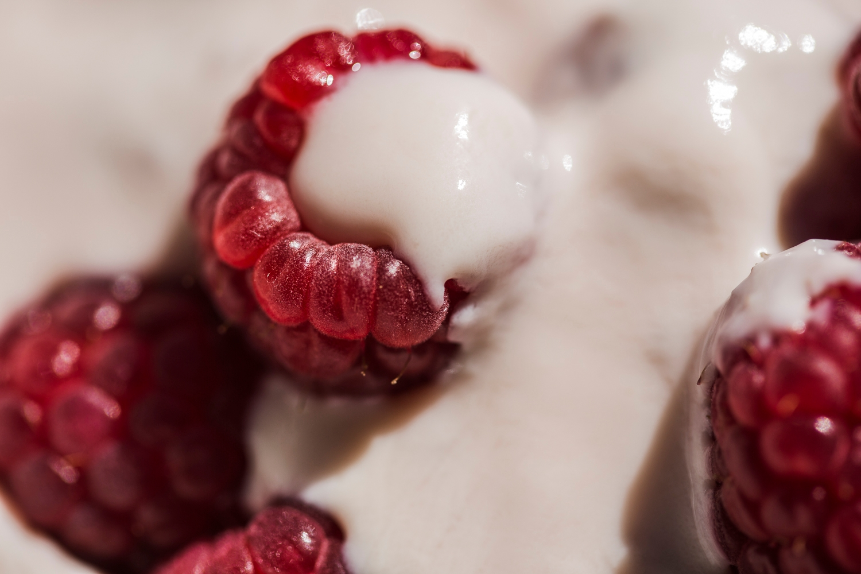 Brown Cow Organics raspberry yoghurt