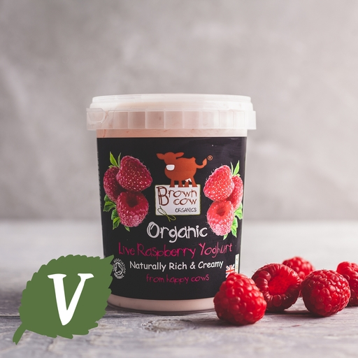 Brown Cow Organics raspberry yoghurt 480g