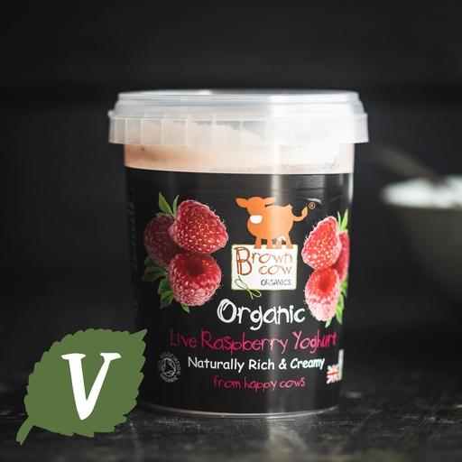 Brown Cow Organics raspberry yoghurt 480g