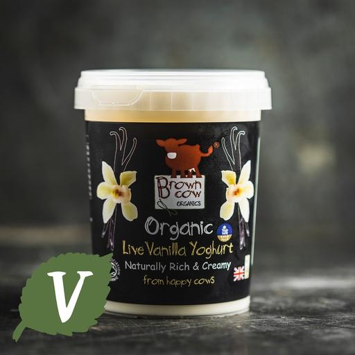 Brown cow organics vanilla yoghurt 480g