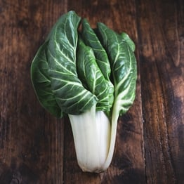 Head of swiss chard