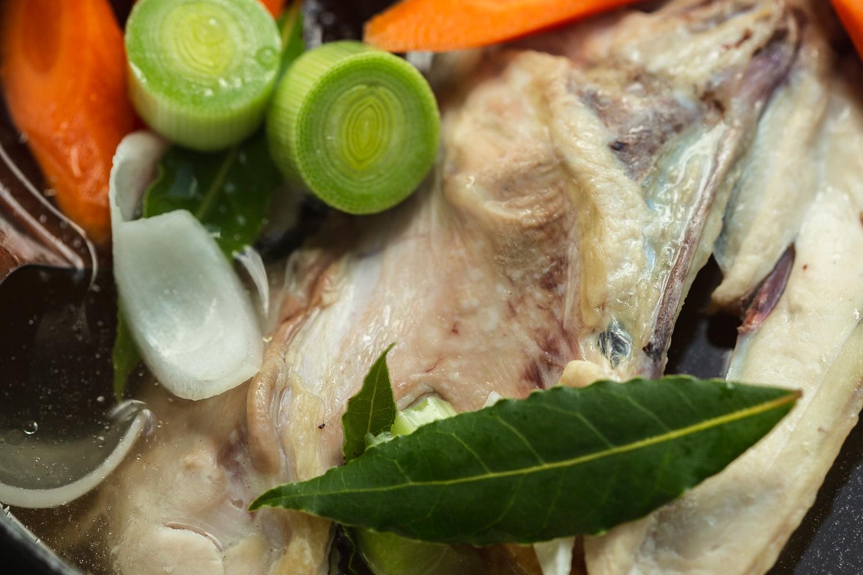 Chicken stock carcass