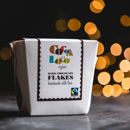 Dark chocolate drinking flakes