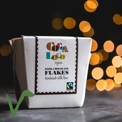 Dark chocolate drinking flakes 200g