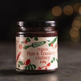 Plum & cranberry chutney