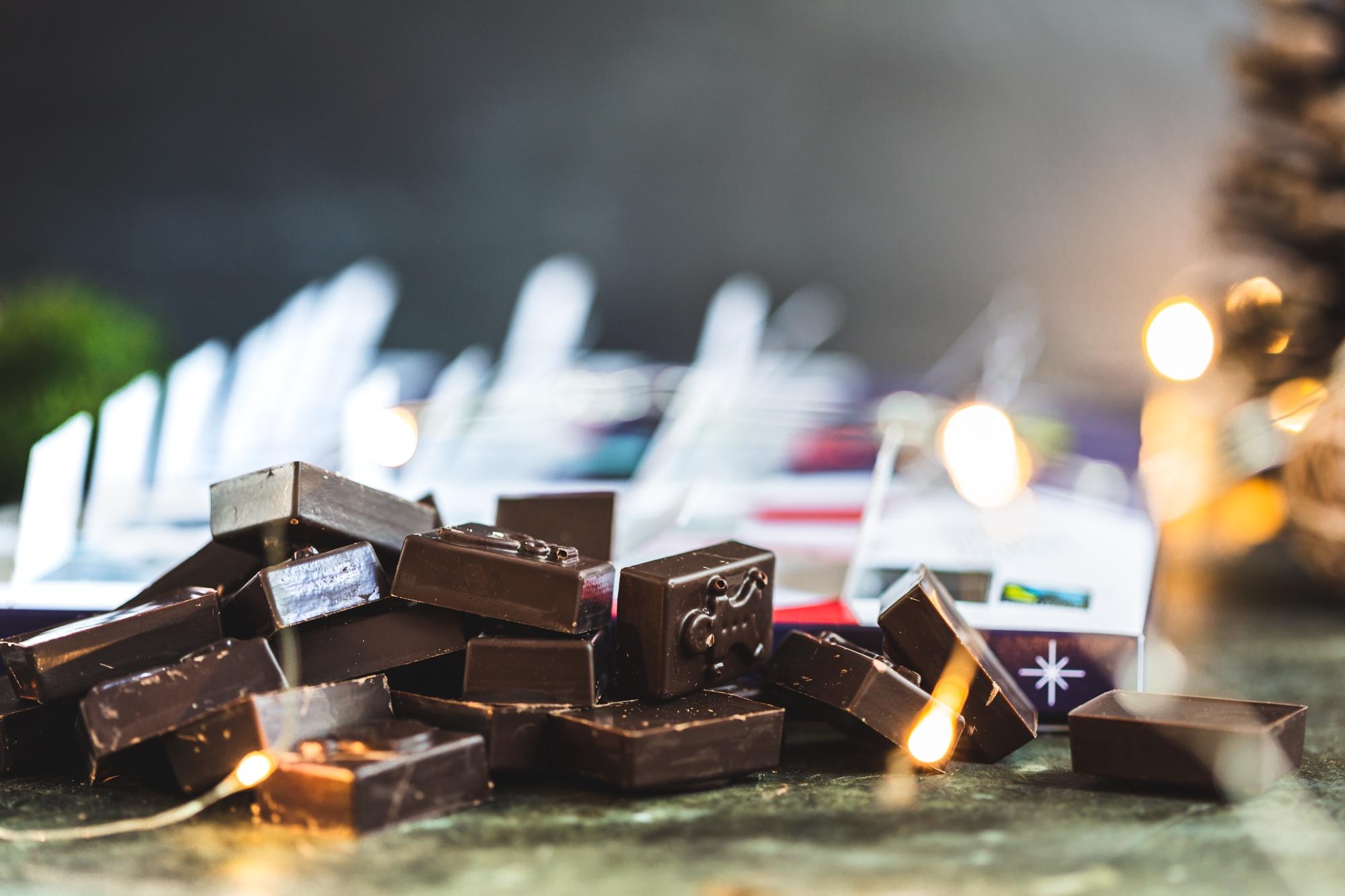 Dark chocolate advent calendar