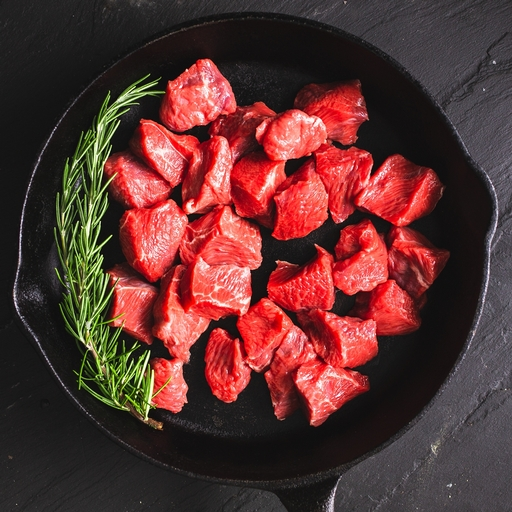 Beef diced 400g