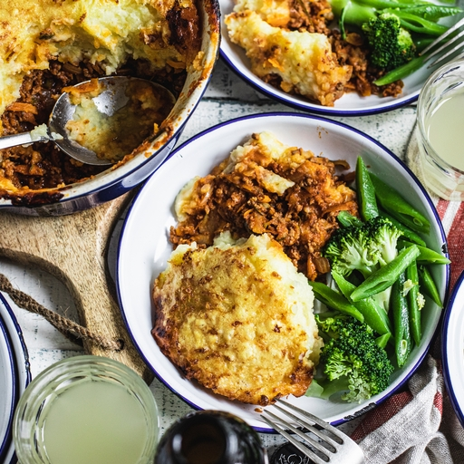 Beef Cottage Pie with Broccoli & Beans