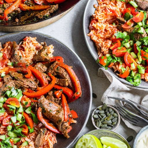 Mild Mexican Beef & Tomato Rice