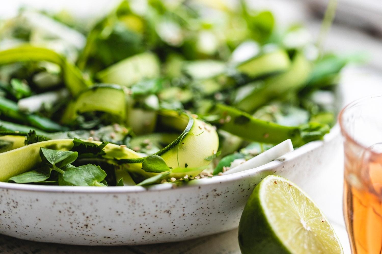 Green bean & miso salad bag