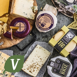Large british cheese selection