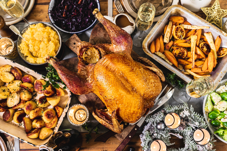 Medium turkey with large seasonal veg box