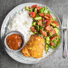 Tandoori Chicken with Kachumber Salad