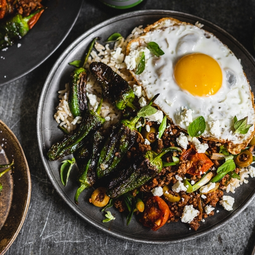 Beef Picadillo & Padron Peppers