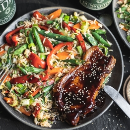 Hoisin Pork & Sesame Vegetable Rice