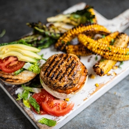 Mexican Pork Burgers & Sweetcorn 'Ribs'