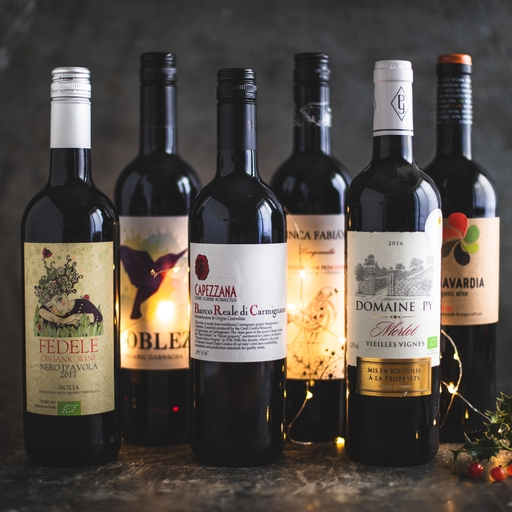 6 x Red mixed wine case 75cl