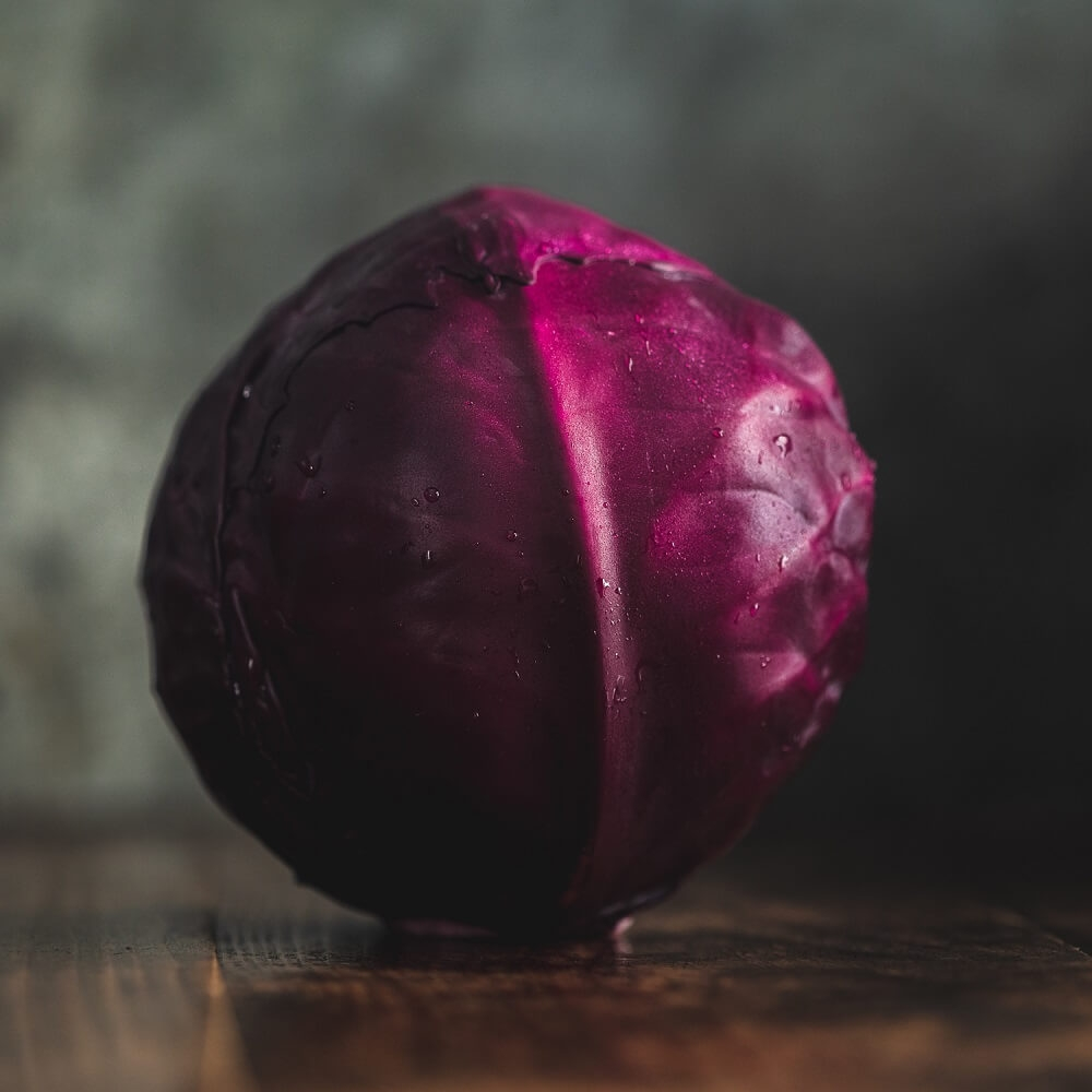 Image of Red cabbage being produced