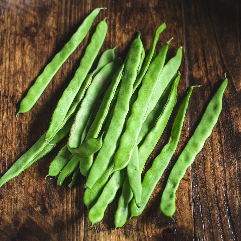 Image of Flat beans being produced