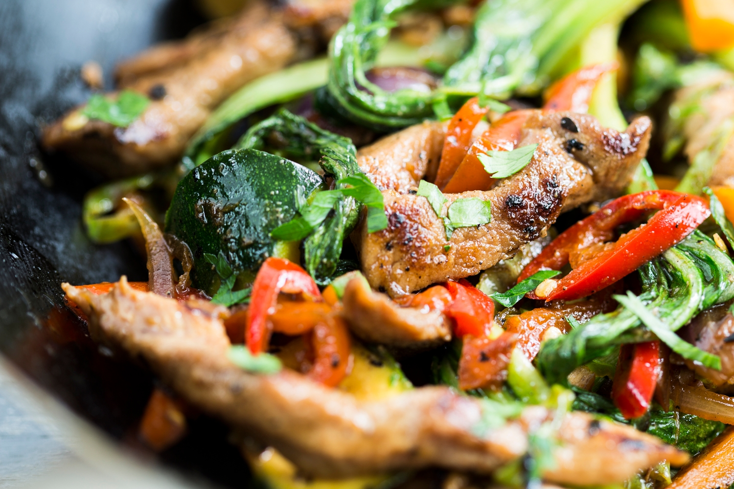 Pork stir fry strips