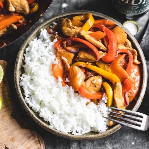 Sweet & Sour Chicken & Sticky Rice