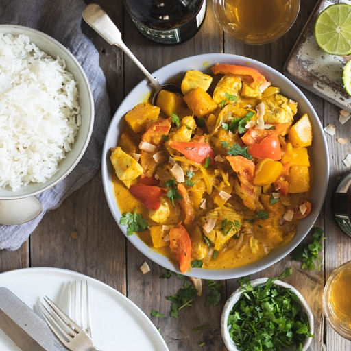 Jamaican Chicken & Squash Curry