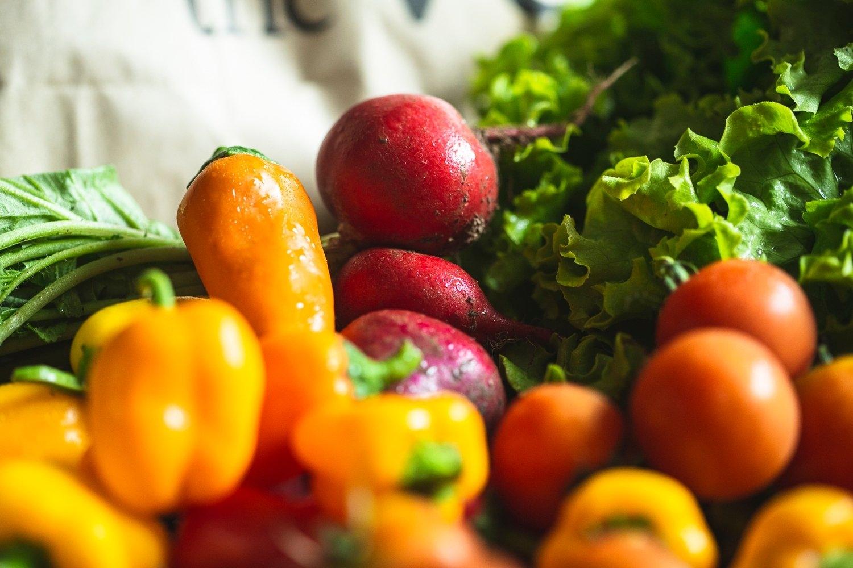 Organic salad boxes