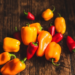 Sweet mixed peppers 250g